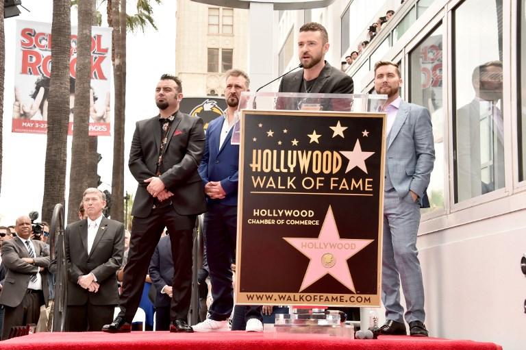NSYNC obtiene su estrella en el Paseo de la Fama de Hollywood