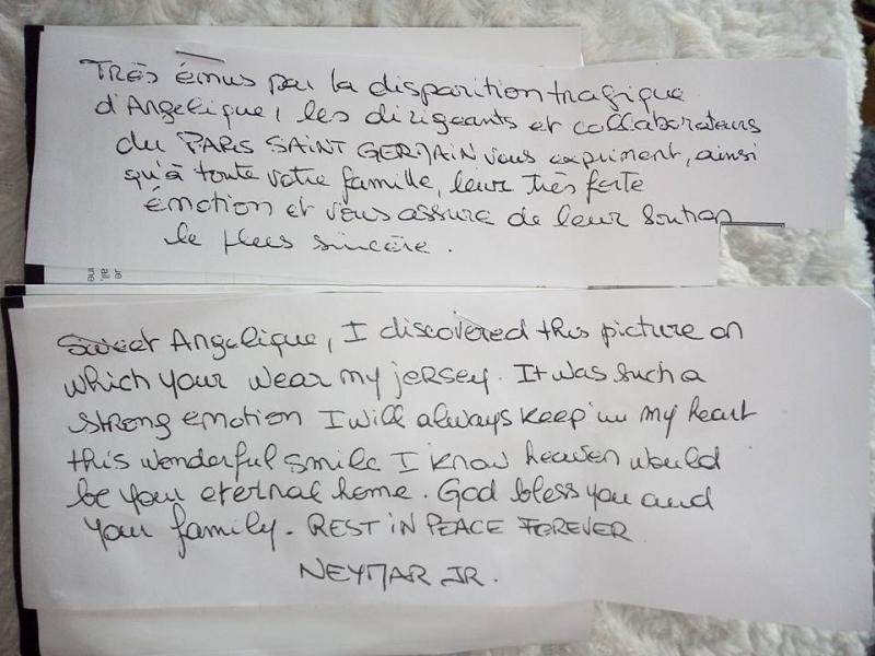 La emotiva carta de Neymar a niña francesa de 13 años asesinada por un violador