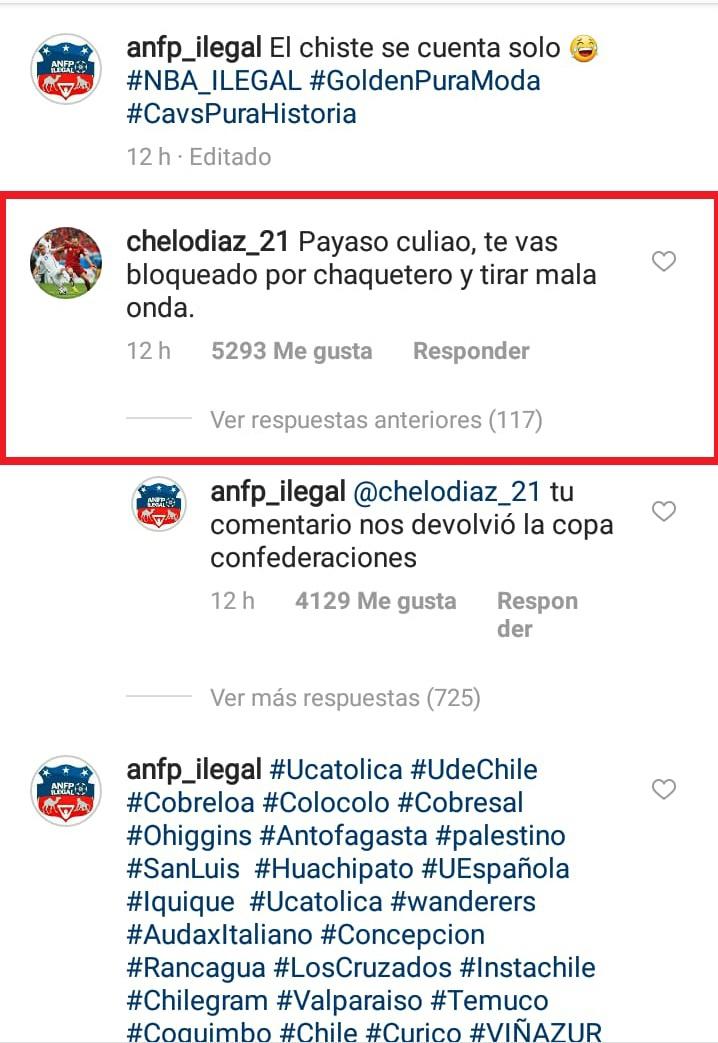 [FOTO] Marcelo Díaz responde con dureza a burla en redes sociales