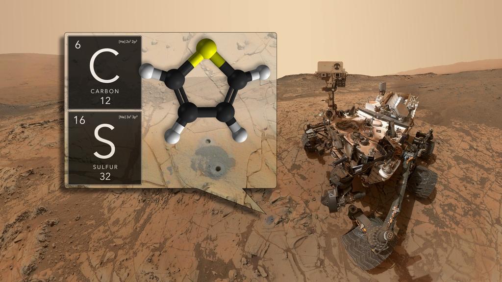 Curiosity encuentra nueva materia orgánica en marte