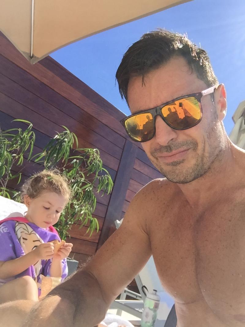 Petaccia junto a su hija Lía