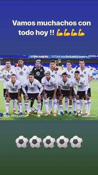 [FOTO] Octavio Rivero envía arenga desde México a Colo Colo por duelo de Copa Libertadores