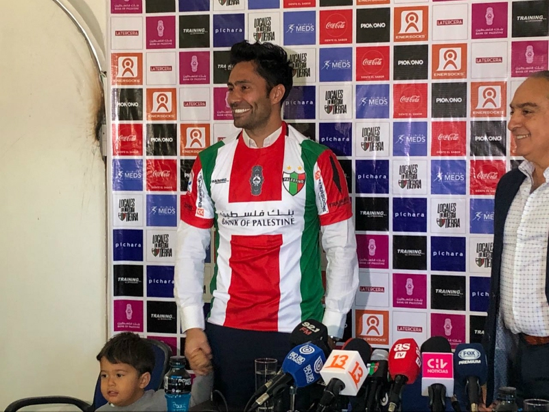 """[FOTOS] Luis """"El Mago"""" Jiménez es presentado oficialmente como nuevo refuerzo de Palestino"""