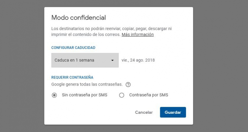 Ya se pueden enviar mensajes confidenciales a través de Gmail para móviles
