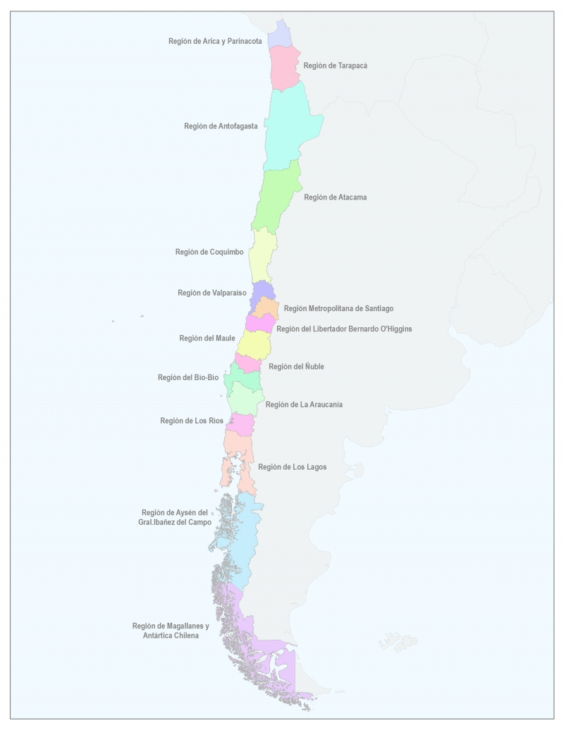 Mapa Politico De Chile.Asi Queda El Mapa De Chile Con La Nueva Region Del Nuble