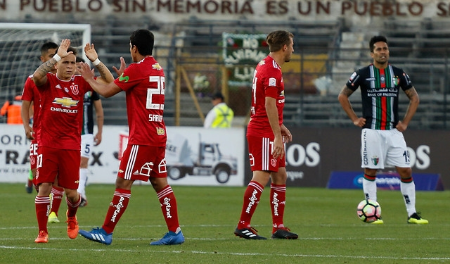 Yeferson Soteldo tras su gol frente a C.D Palestino