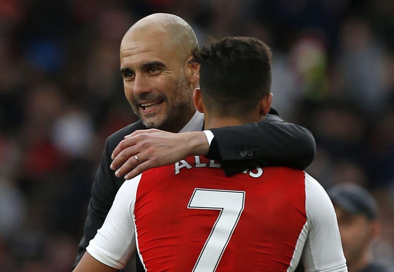 Uno de los últimos encuentros de Pep y Alexis en Inglaterra