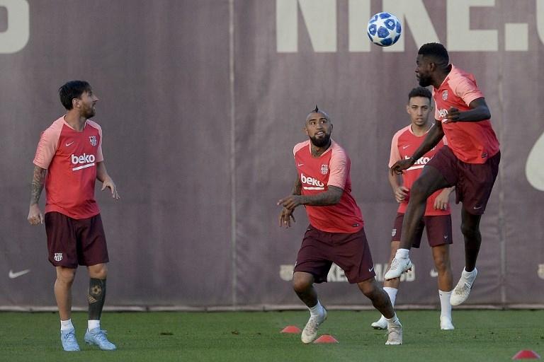 Arturo Vidal en entrenamiento del FC Barcelona