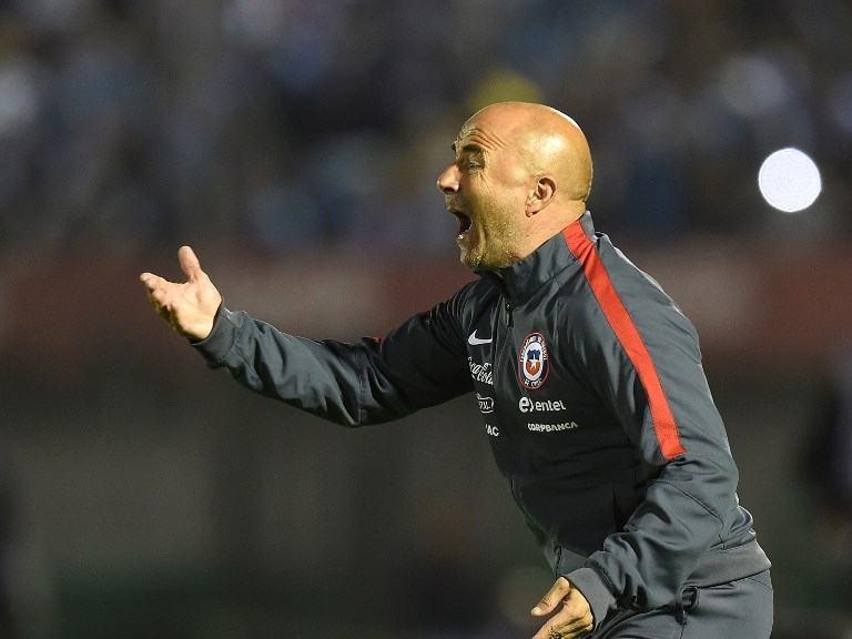 Jorge Sampaoli en su paso por Chile