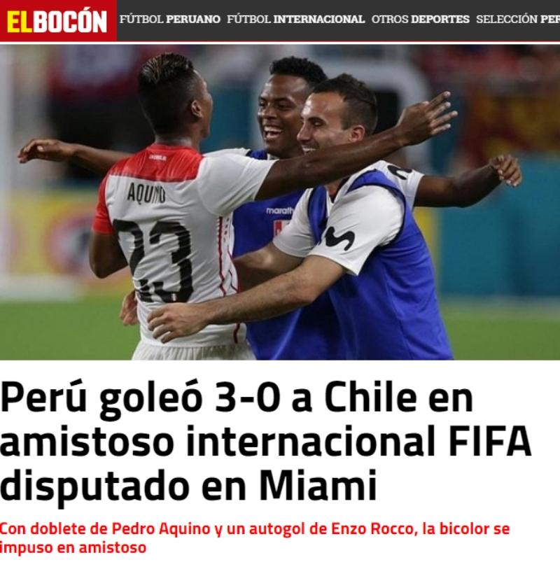 Así Reaccionó Prensa De Perú Tras Triunfo Sobre Chile Tele 13