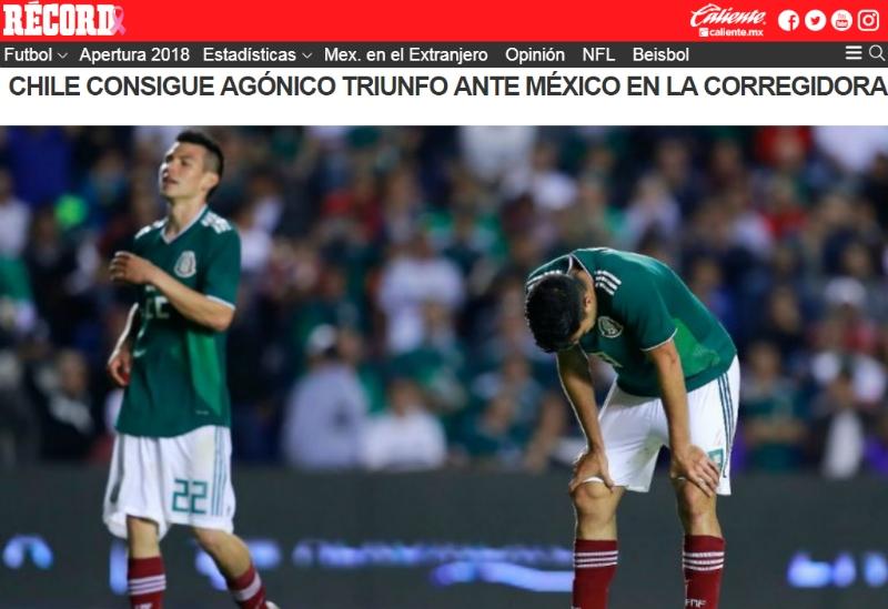 """[FOTOS] """"Marcador global: 8-0"""": Prensa mexicana no olvida el 7-0 y sufre con nueva caída ante Chile"""