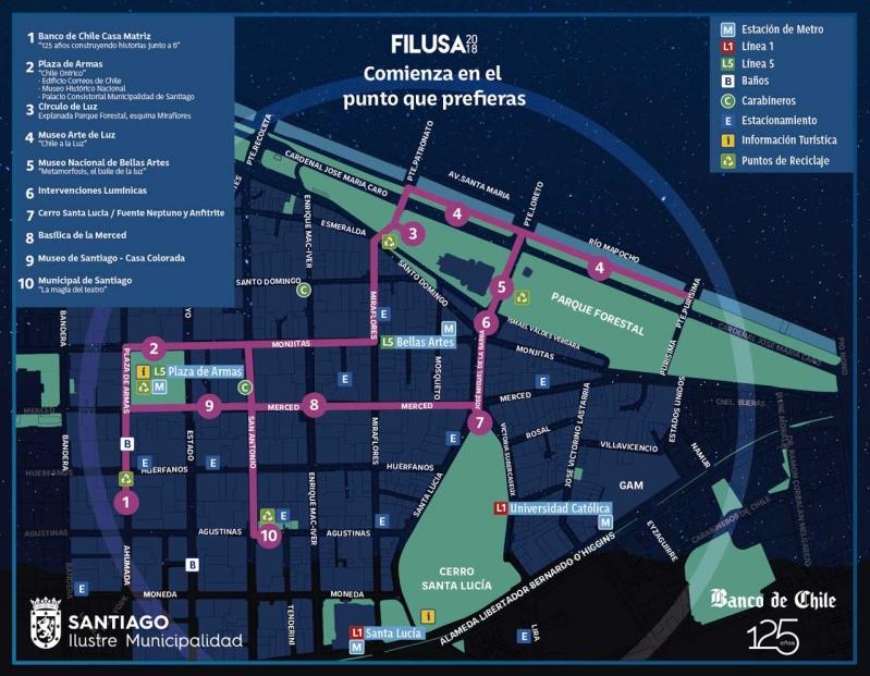 FILUSA 2018: Revisa el mapa de actividades