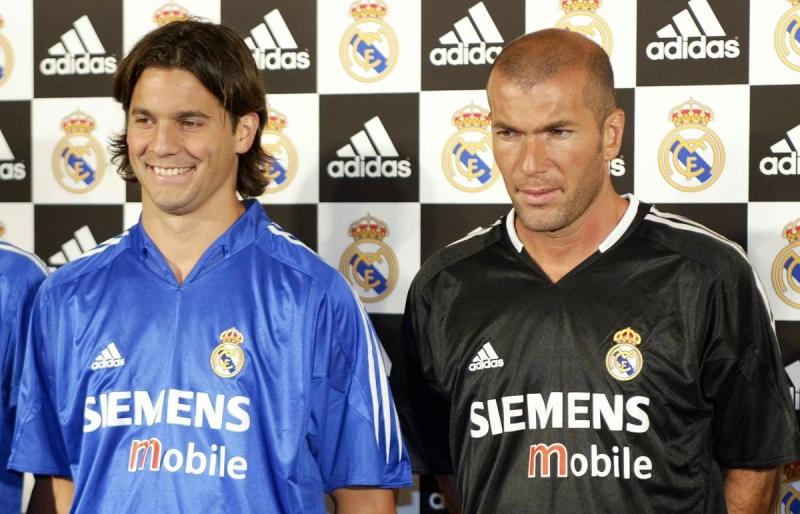 Solari y Zidane en su época de futbolistas