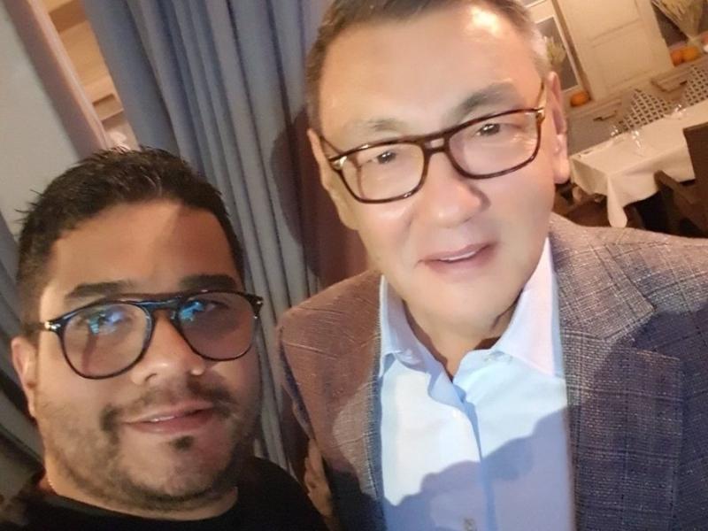 Alberto Torres, presidente de la federación colombiana de boxeo, junto a Gafur Rakhimov