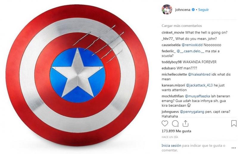 John Cena podría ser el siguiente Capitán América tras 'Avengers 4'