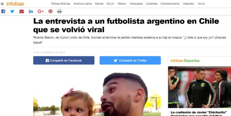 [VIDEO] Divertida respuesta de jugador de Curicó Unido cruza fronteras