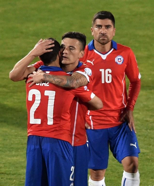 Marcelo Díaz, Charles Aránguiz y David Pizarro