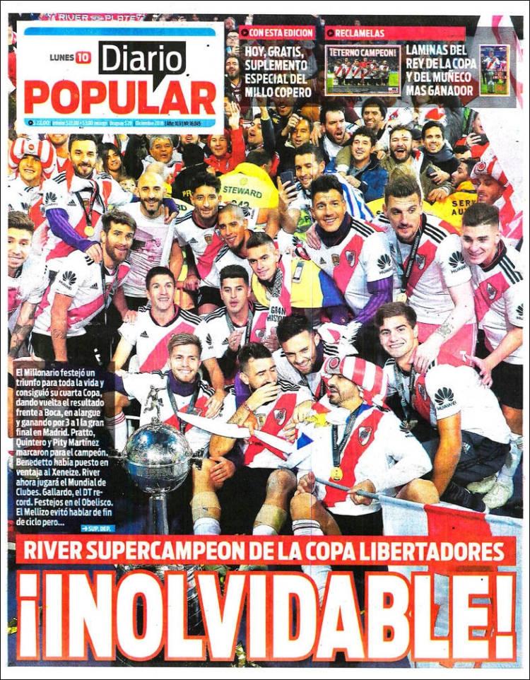 River campeón de la Copa Libertadores: portadas prensa argentina ...
