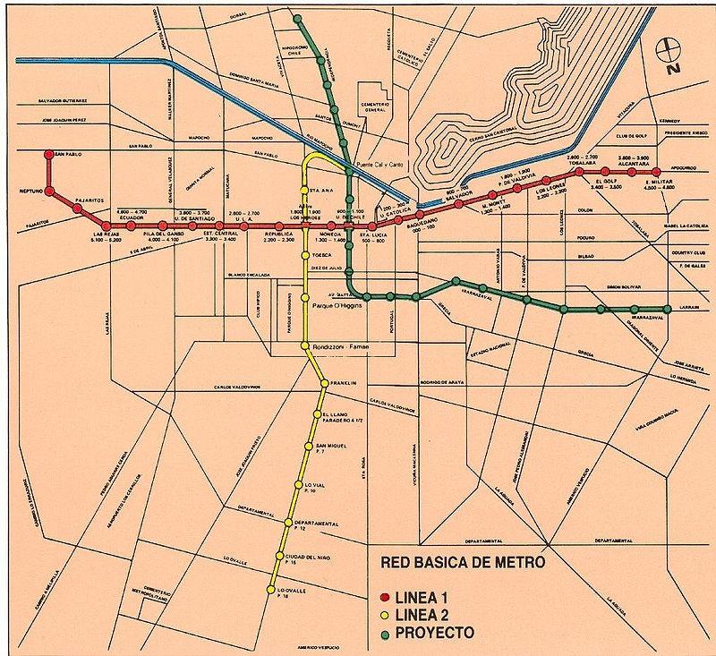 Mapa Metro Líneas 1, 2 y 3