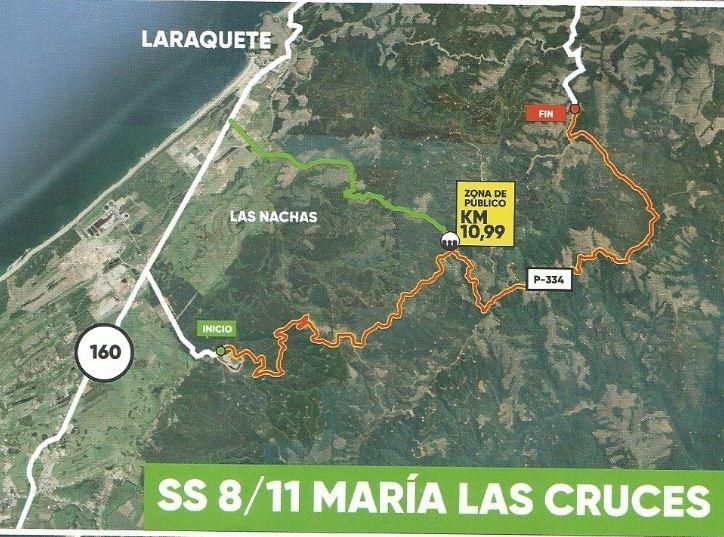Estas son las zonas habilitadas para el público en el Rally Mundial que se realizará en Concepción