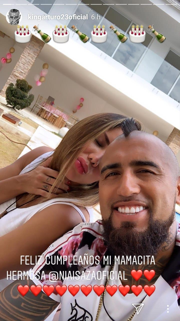 """""""Feliz cumpleaños, mamacita hermosa"""": El romántico saludo de Arturo Vidal a su pareja"""
