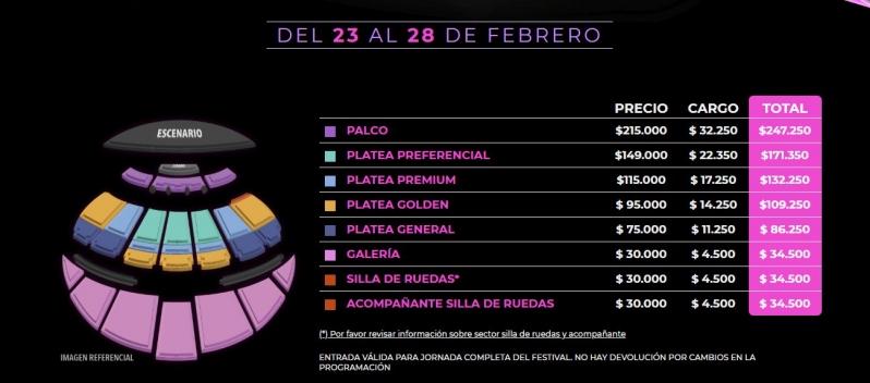 Festival De Viña 2020 En Vivo.Festival De Vina 2020 Venta Y Precio De Entradas Tele 13