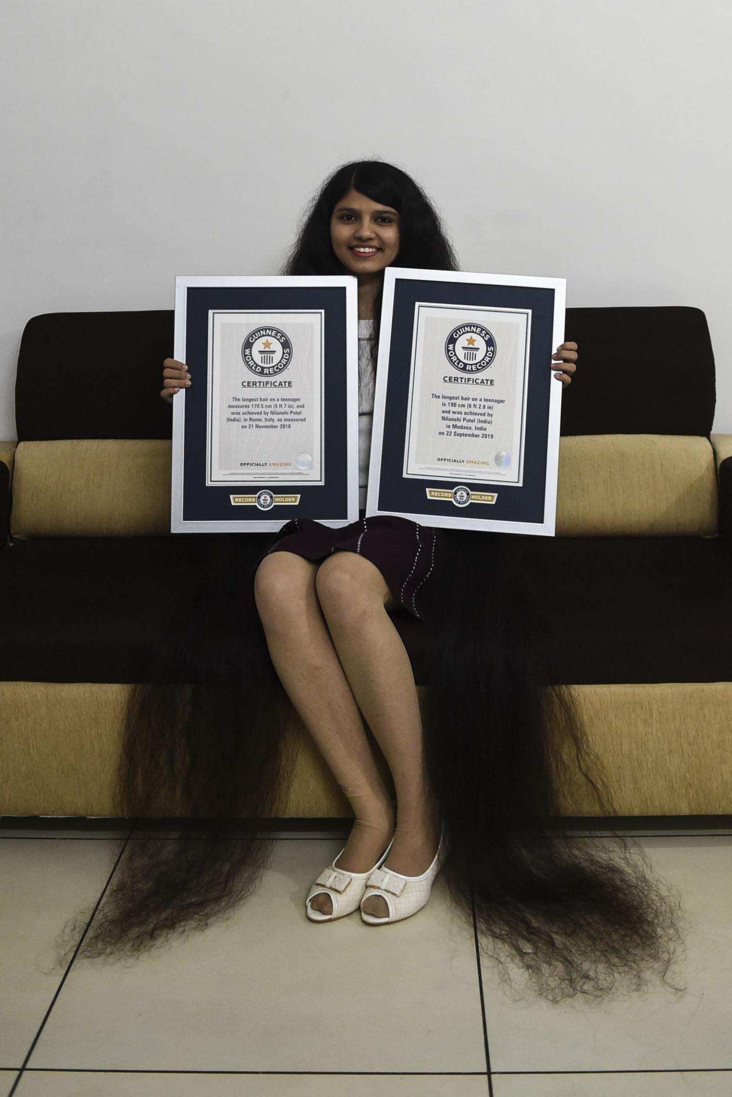 Resultado de imagen para Nilanshi Patel, cabello