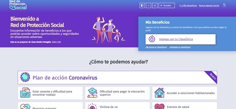 Gobierno lanza sitio web único para acceder a beneficios