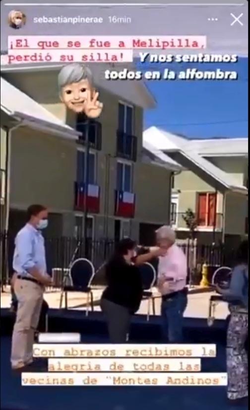 Presidente Piñera es captado sin mascarilla y dando abrazos
