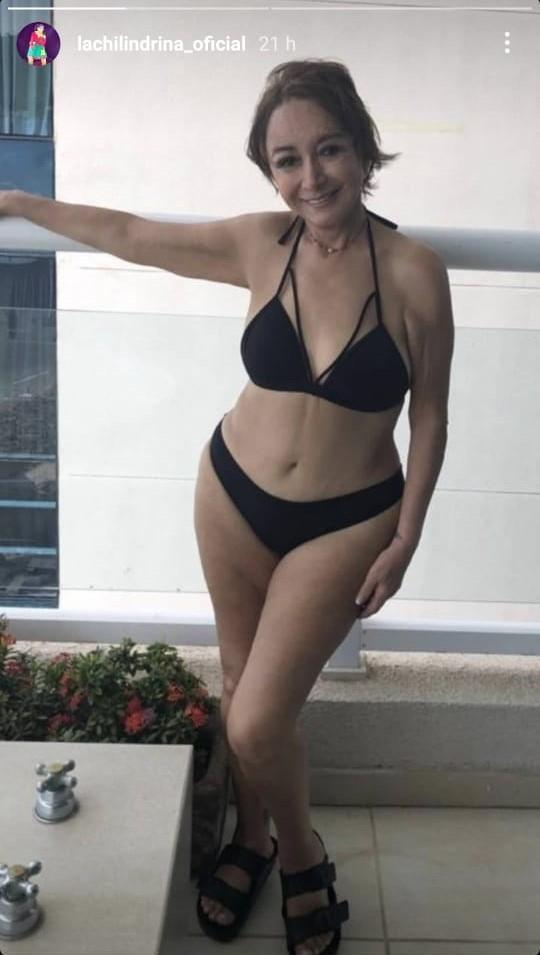 """""""La Chilindrina"""" posa en bikini a los 70 años y sorprende a sus seguidores"""