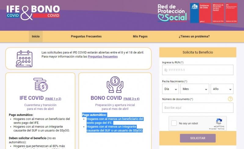 IFE y Bono COVID de abril: Cómo postular al pago y cómo saber si me corresponde