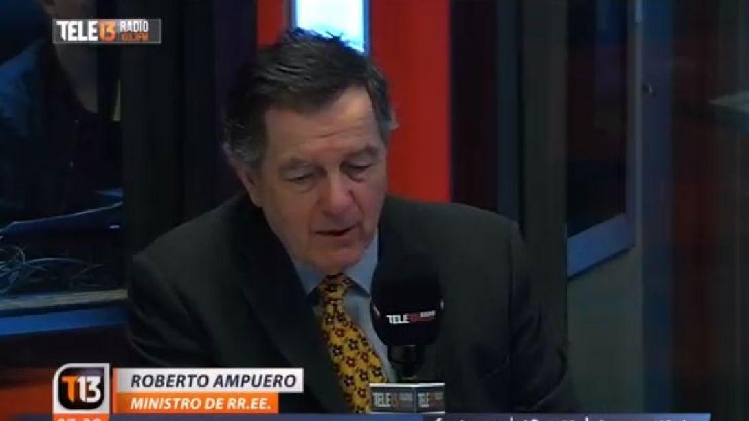 [VIDEO] Ampuero: Chile y el Grupo de Lima están preparados ante amenazas de Nicolás Maduro