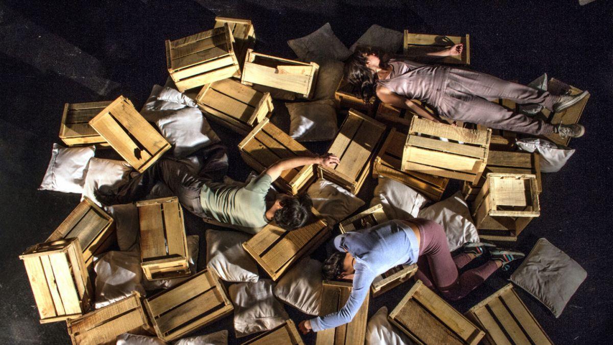 Artista transforma cajas de tomates en rupturista apuesta de danza