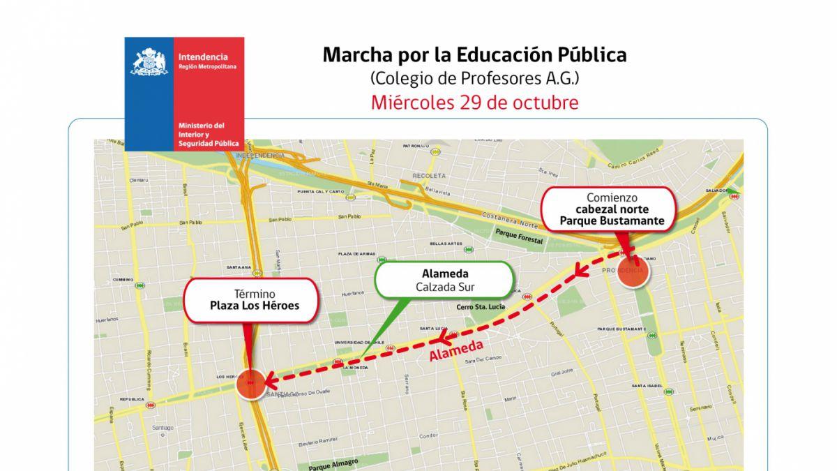Profesores alistan movilización para este miércoles y Mineduc llama a deponer la convocatoria