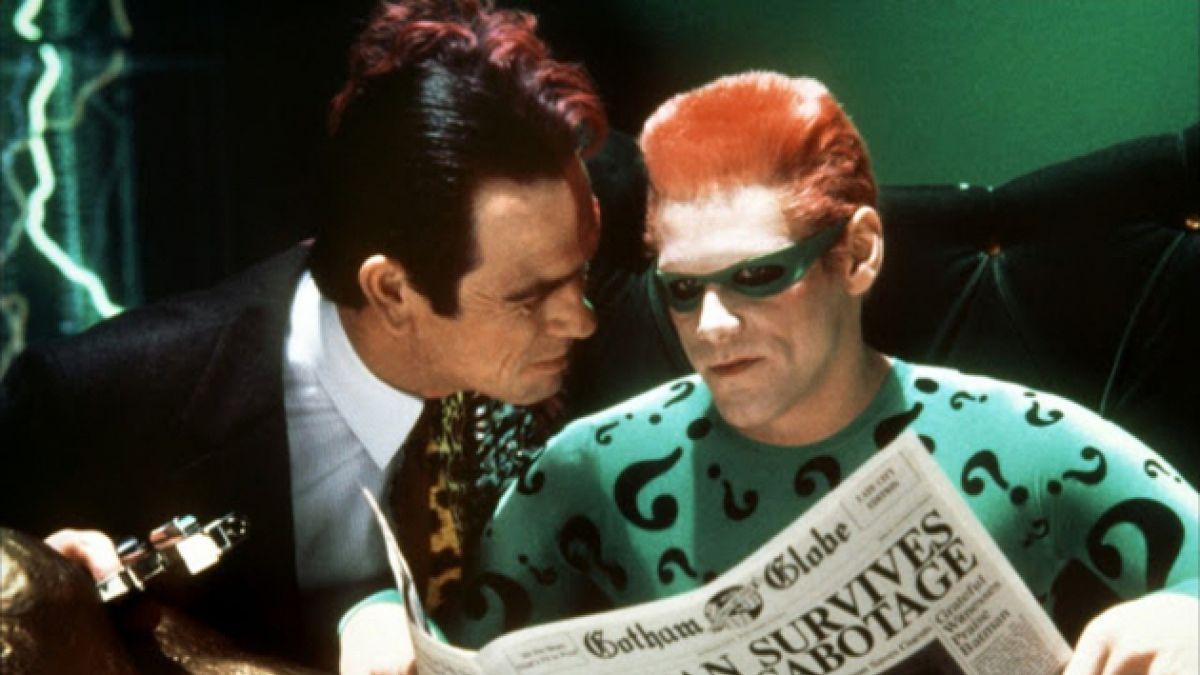 Jim Carrey contó el odio que le tenía Tommy Lee Jones en Batman Forever