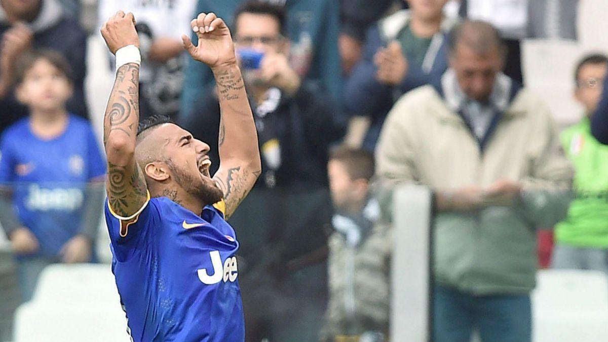 Juventus triunfa ante Palermo con gol de Arturo Vidal