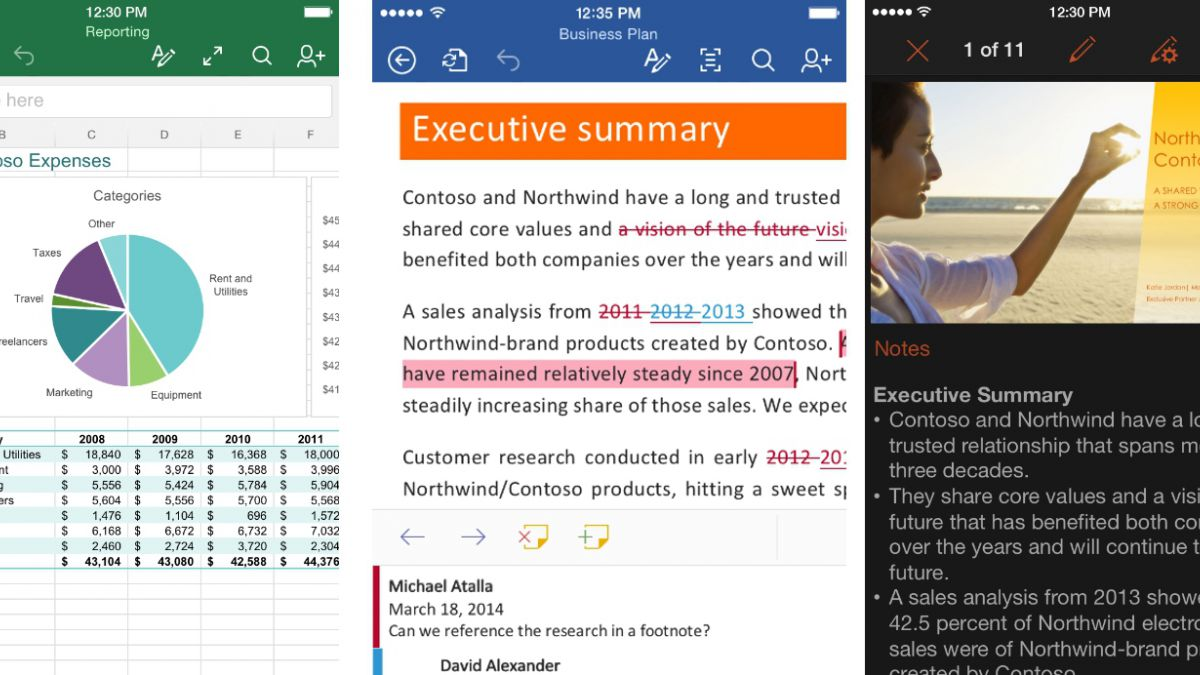 Office gratis para iPhone y iPad lidera ránking de descargas