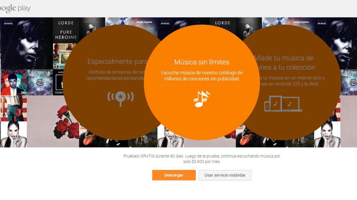 Servicio de música de Google regala dos meses gratis
