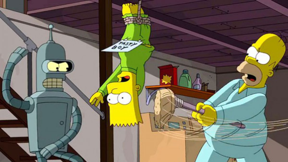 [VIDEO] Primer avance del crossover entre Los Simpson y Futurama