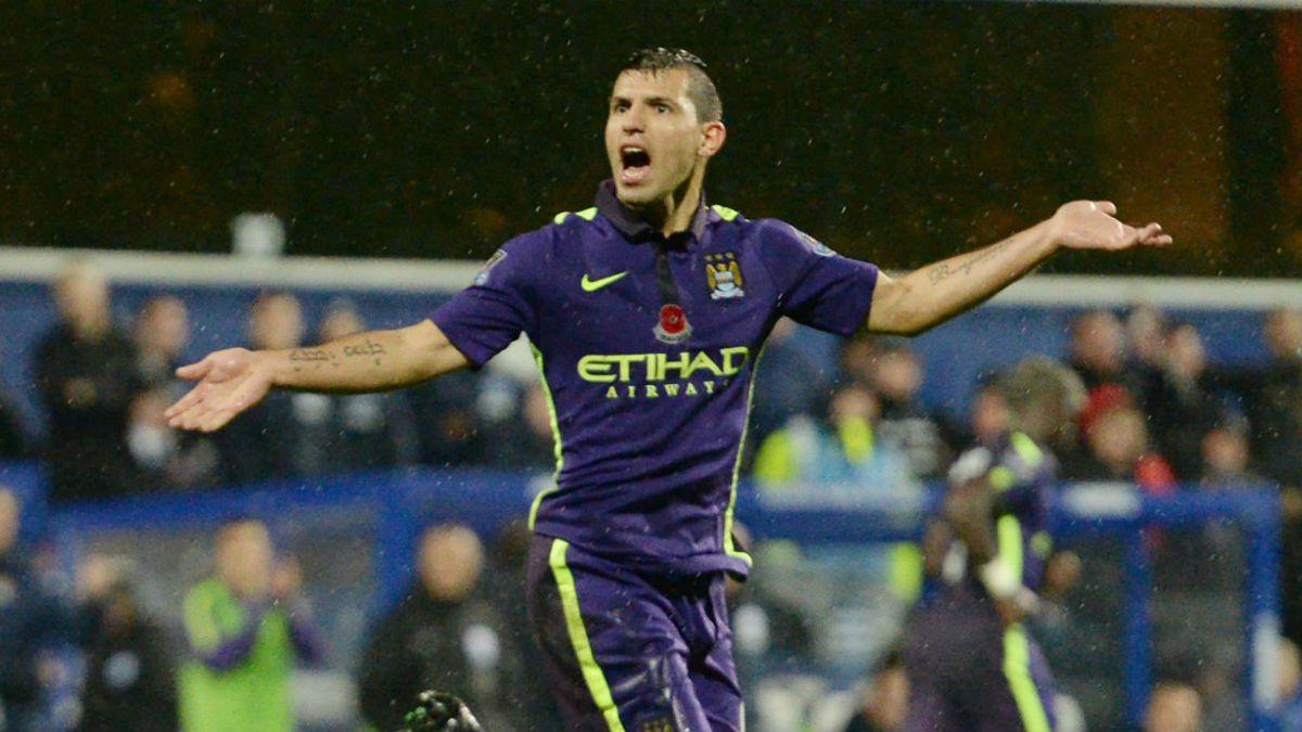 Aguero salva al City de Pellegrini y se convierte en el goleador del certamen