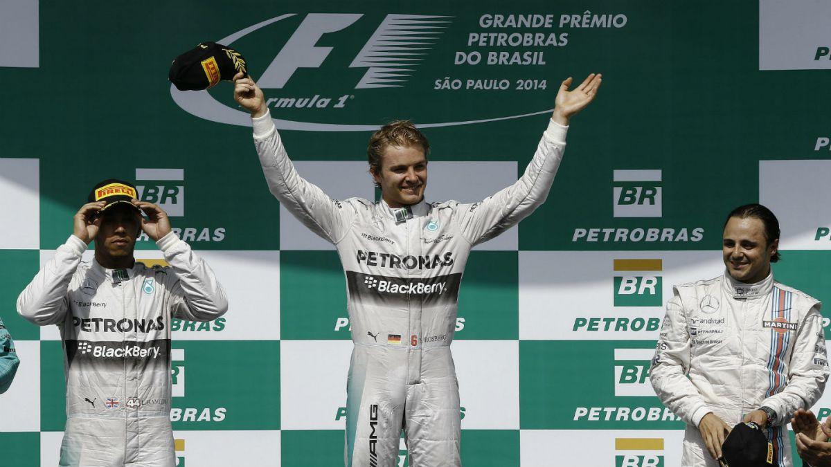 Nico Rosberg gana por delante de Hamilton en Interlagos