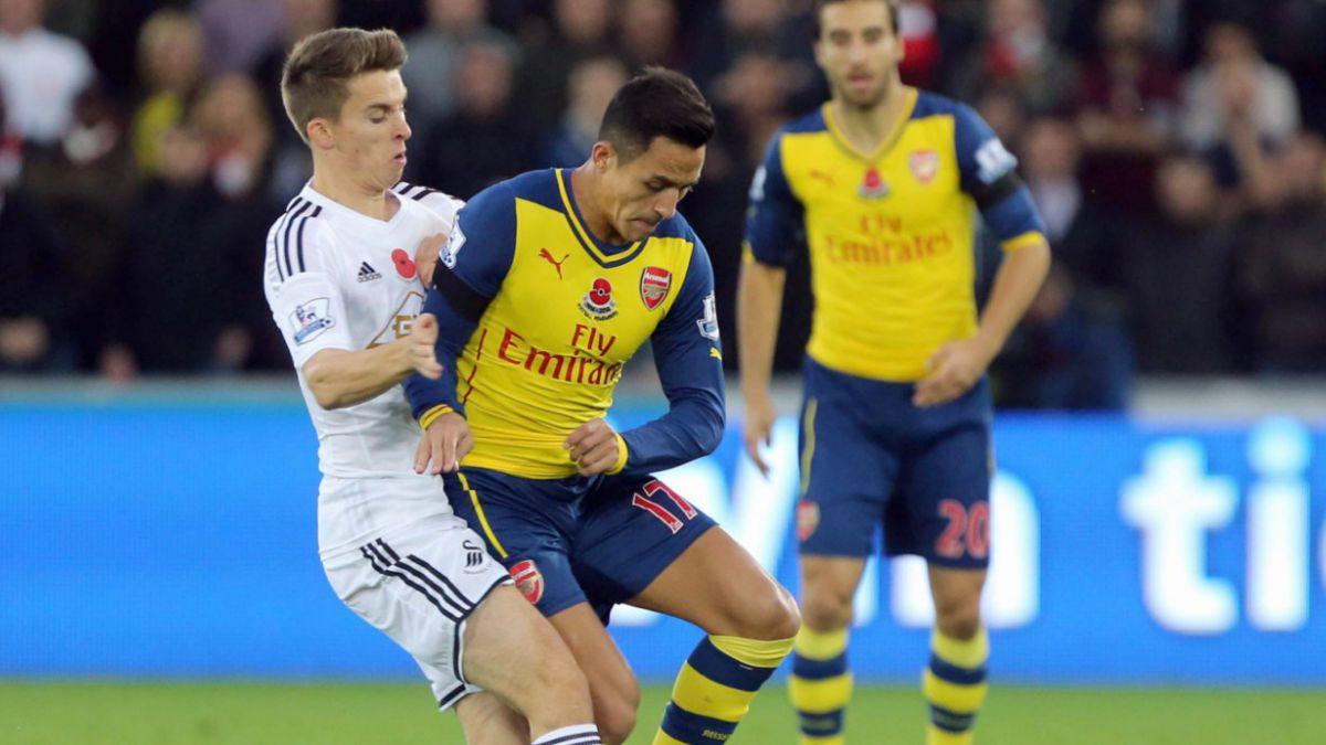 Alexis Sánchez recibe burlas en Twitter por adelantar resultado ante Swansea