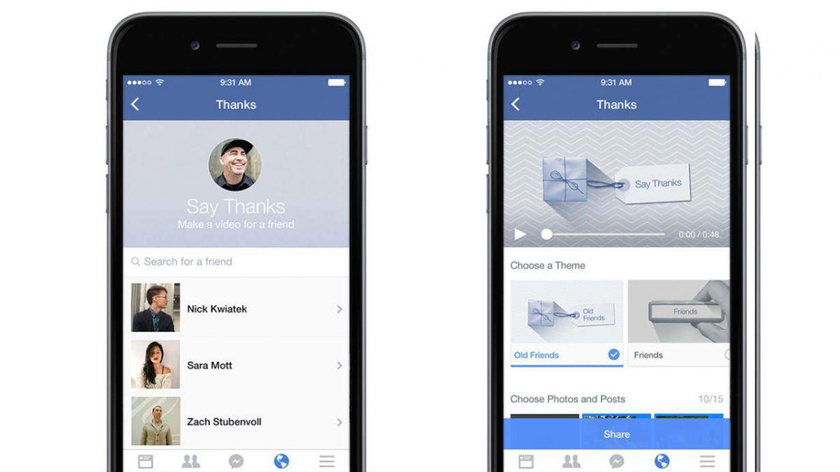 Facebook lanzó nueva función para regalar videos personalizados