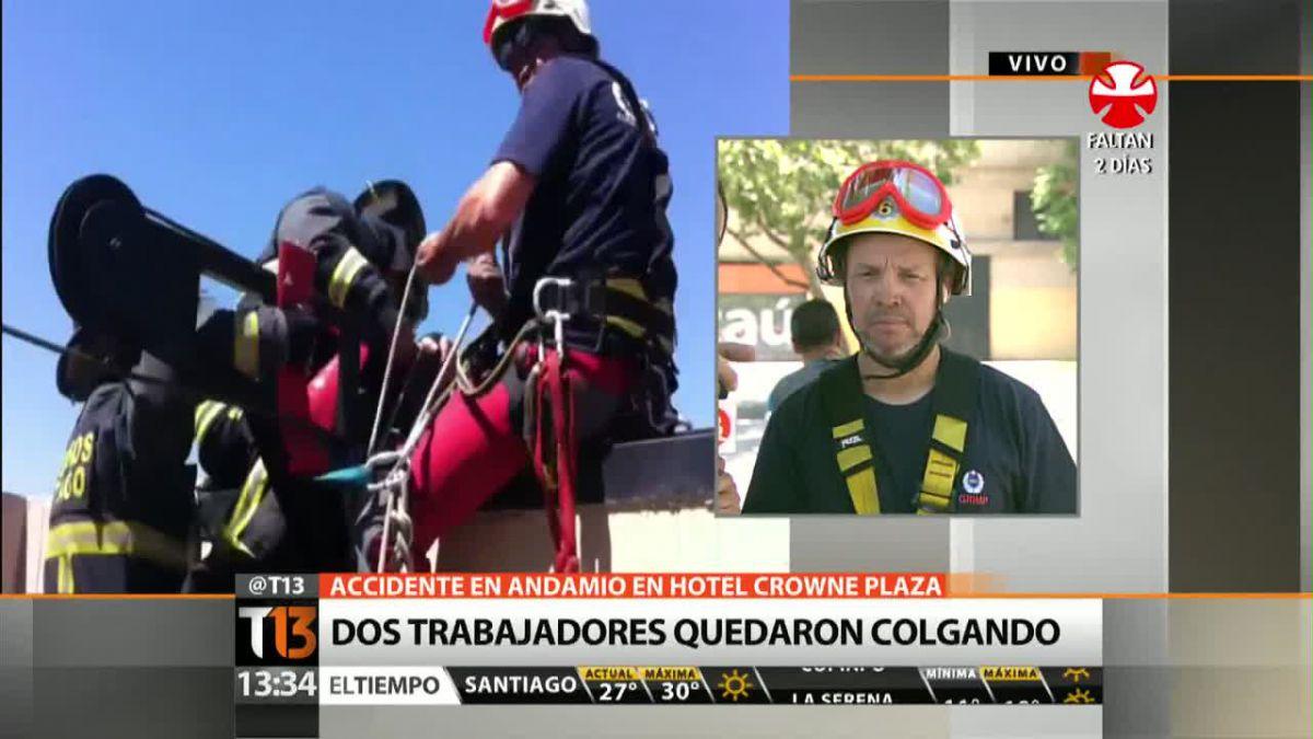 Voluntario de Bomberos narra el rescate a los trabajadores en el hotel Crowne Plaza