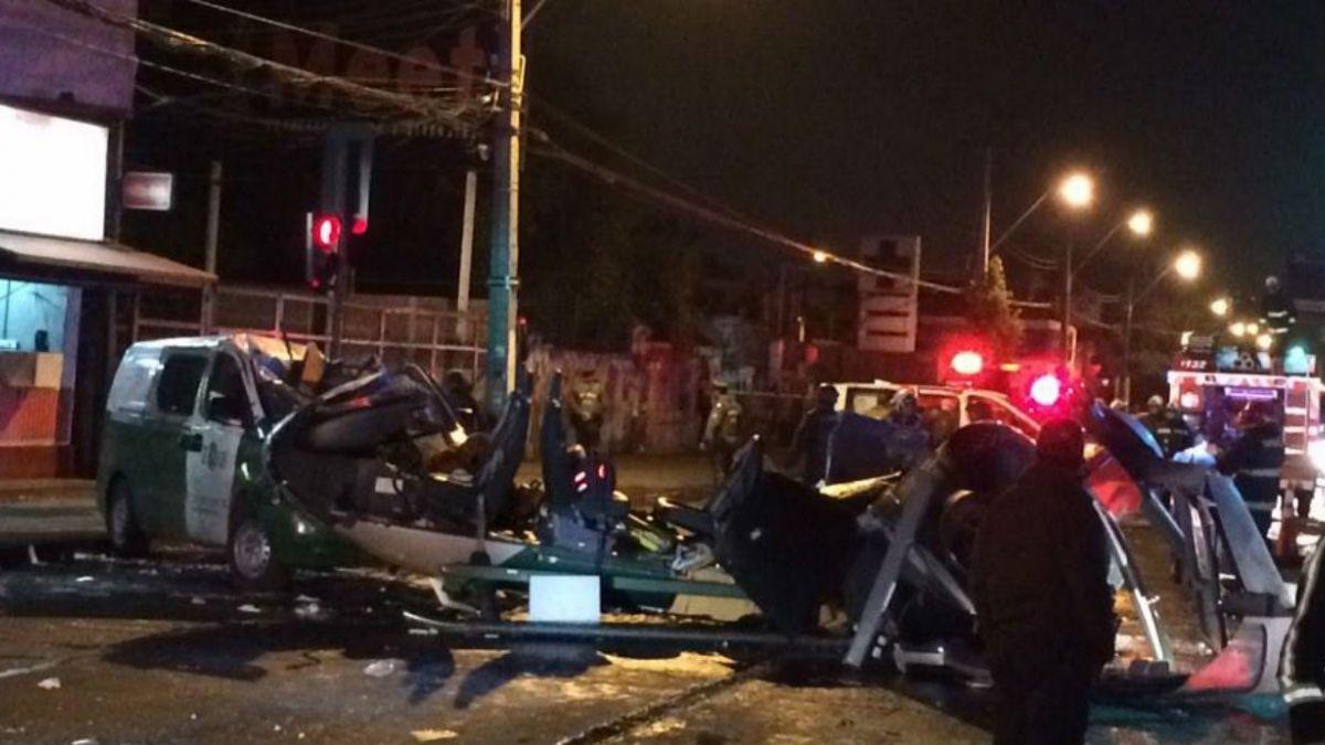 [VIDEO] Helicóptero de Carabineros sufre accidente y explota en San Miguel