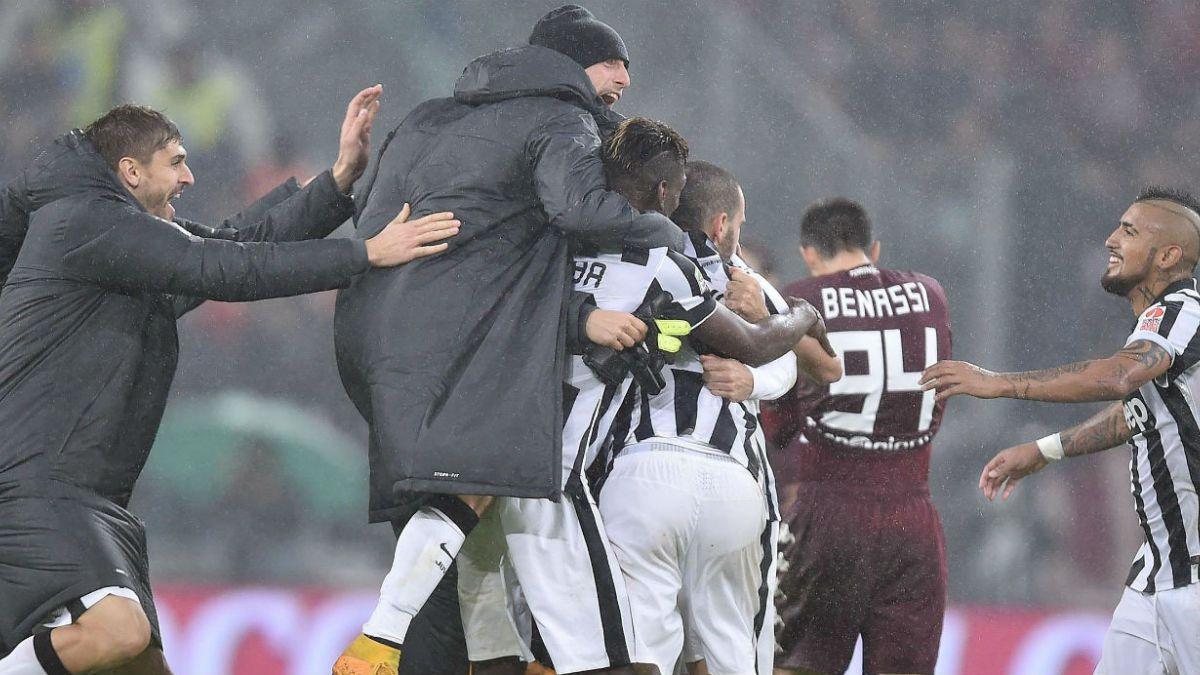 Juventus se impone ante Torino con gol de Vidal