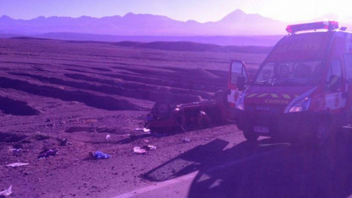 Accidente en San Pedro de Atacama deja cuatro muertos