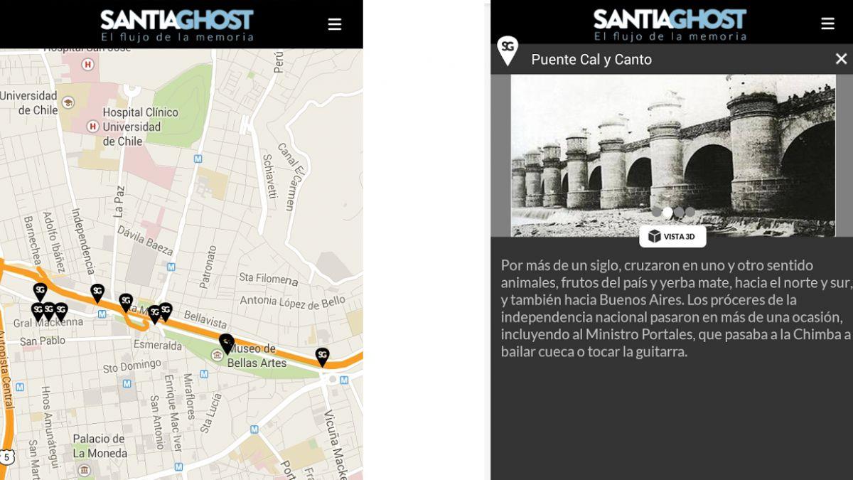 Nueva aplicación recorre los hitos arquitectónicos de Santiago