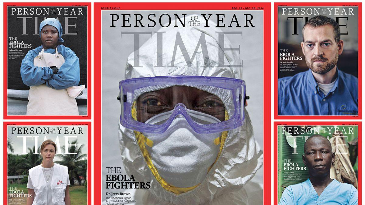 Time eligió a los luchadores contra el Ébola como personaje del año