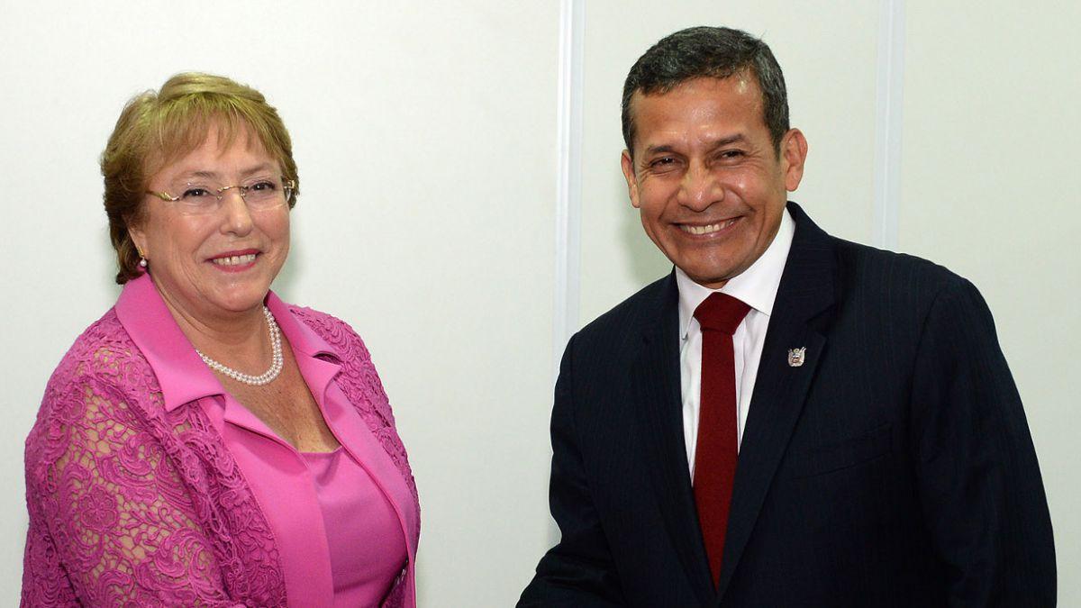 Presidenta Bachelet sostiene encuentro bilateral con Ollanta Humala